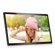 VIF LCD Video Brosur 1280 * 800 Wall Mounted Android 22 Inch Dukungan Wifi 110v-240V