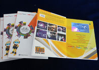 Kulit 4.3 Inch Hard Cover Video Booklet Perekaman Dan Pengisian CMYK