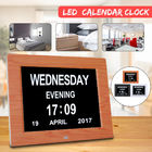 800x600 Digital Kalender Clock 5V 1A Folder Kartu Ucapan